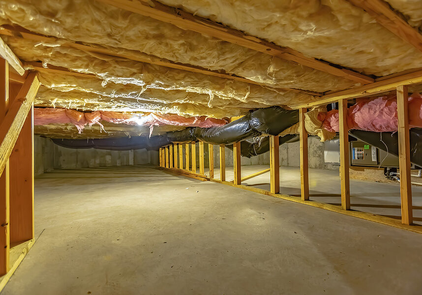 crawl space in the basement