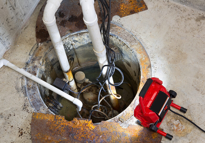 fixing the sump pump of the basement